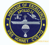 APOLLO 11 USS HORNET CVS12 CV CVA US NAVY PATCH NASA HERITAGE OF EXCELLENCE WOW
