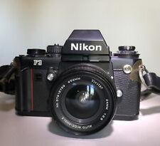 Nikon F3 35mm SLR Film Camera W/Vivitar Auto Wide Angle Lense. Case And Manuals