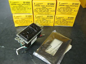 Lot of 6 Hubbell GF5352 Commercial Ground Fault Receptacle Electrical Outlet 20a