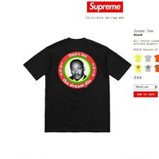 434d36b5aef7 Supreme MLK Martin Luther Don't Let The Dream Die Black Size Medium SS18 New