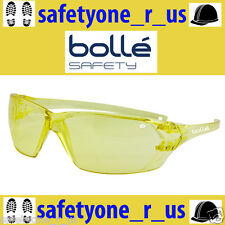 2x Pairs Bolle Safety Glasses - Prism - Amber (Yellow) Lens