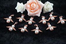 10 Engel Schutzengel Gastgeschenk Anhänger Hochzeit Taufe Kommunion rose Rosa
