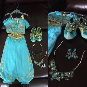"""Jasmine Complete Toddler Sz 4 Costume From """"Alladin"""" **Official Disney Product**"""