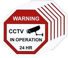 CCTV Warning Sticker x6, Video Surveillance Vinyl Decal, Security Camera Sign