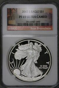 US 2012 S Silver Eagle $1 NGC PF69 Ultra Cameo  S473