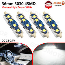 4x OSRAM 3030 36MM Festoon 4SMD C5W Dome Canbus Error Free Car LED Bulbs White