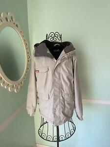 Snowboard Ski Jacket Quicksilver Kids Large Gray Hood