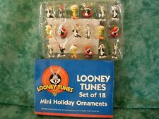 LOONEY TUNES 18 MINI HOLIDAY ORNAMENTS~1998~BUGS,TWEETY,SYLVESTER,MARVIN~NEW