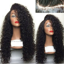 New Ladies Long Full Wavy Wig Afro Kinky Curly Hair Women Wigs Black Red Brown