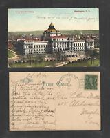 1908 CONGRESSIONAL LIBRARY WASHINGTON DC POSTCARD