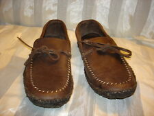 Minnetonka Men's Brown Leather Moccasin Loafer Slip-On Shoes Size 13