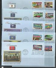# 3561-3610 34-Cent GREETINGS FROM AMERICA 2002 FLEETWOOD First Day Covers
