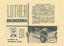 Vintage & Very Rare 1960 Luther Engineering Viper Go-Kart & 1/4 Midget Ad