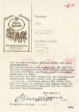 FRANKFURT/MAIN, Postkarte 1940, J.G. Mouson&Co. Lavendel Drogerieartikel