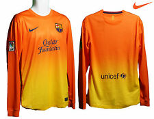NOUVEAU Nike Barcelona Football Club AWAY maillot manche longue jaune orange M