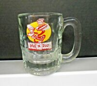 """ DOG N SUDS "" HEAVY GLASS ROOT BEER SODA MUG DRIVE IN VINTAGE 4 3/8"" PRE-OWNED"