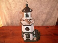New ListingHome Garden Decor Nautical Nest White Lighthouse Bird House Birdhouse Wood