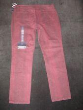 NYDJ SKINNY Ankle Jeans W Lift Tuck Burgundy Snake Print USA Sz 14 EUR 44