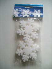 Styrofoam 9cm Snowflake (6 Pack) Christmas / Winter Craft Decoration Set - New