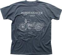 Motorcycle Hardtail Custom Chopper Club Biker patent charcoal t-shirt FN9286