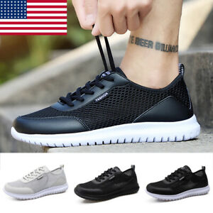 Men Sneakers Casual Walking Lace Up Plus Size Breathable Lightweight Water Shoes