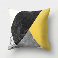 Polyester Yellow pillow case cover sofa car waist throw cushion cover Home Decor