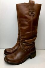 FLY LONDON Brown Leather Biker Style Boots 4 / 36