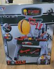 Kids Tool Bench With 65 pc Tools, Hat, Screws Etc