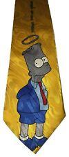 The Simpsons Bart Simpsons Angel Halo Men's Novelty Yellow Necktie Tie