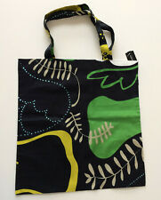 Marimekko multicoloured tote bag, black with mustard, green and beige accents