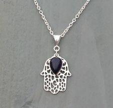 Pear Gemstone Silver Plated Costume Necklaces & Pendants