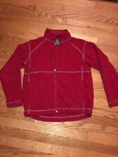 L L BEAN Red Fleece Warm Hiking Beach Jacket Coat Boys Girls Size L 14 16 👗#c4