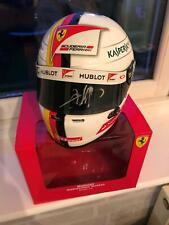 1/2 scale Helmet  Sebastian Vettel Signed Ferrari Formula 1