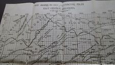 1917 Original EAST CENTRAL OKLAHOMA Map  Geology  Gas Wells  Faults  & more