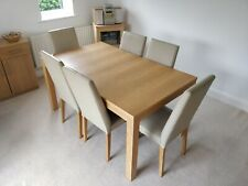 extending dining table and chairs used 8