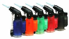 10 Pack 45 Degree Angle Jet Flame Butane Torch Lighter Refillable Windproof, NEW