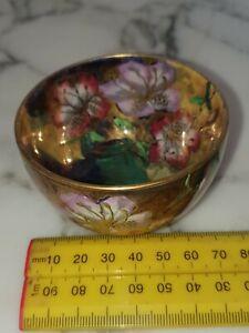 Maling 3773 Pottery Art Deco Lustre Small Bowl Flower Decoration 1930 Peony