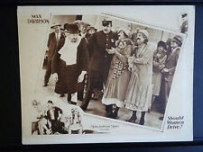 1928 SHOULD WOMEN DRIVE? VG COND LOBBY CARD - COMEDY GAY TRANS - MEN IN DRAG