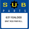 63110AL000 Subaru Brkt rod pwr rg l 63110AL000, New Genuine OEM Part