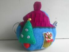New Hand Knitted Christmas Tea Cosy~Large