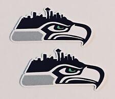 2x Seattle Seahawks Car Bumper Laptop iPhone Wall Vinyl Die Cut Sticker Decal
