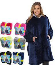Soft Hoodie Sherpa Fleece Blanket Sweatshirt Large Pocket Reversible Ultra Comfy