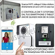 VIDEOCITOFONO CAMPANELLO WIFI IP CAMERA PER SMARTPHONE TABLET ANDROID IOS
