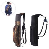 Archery Quiver Back Waist Shoulder Bag Arrow Bow Holder Pouch for Target Hunting