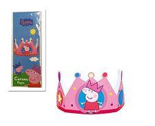 Peppa Pig Crown Girl Kids Happy Birthday Party Paper Celebration Decoration Hat