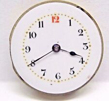 Antique No Name Pocket Watch Movement. 24 mm in size. Beautiful Porcelain Dial