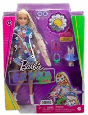Barbie Extra Doll 12 in Floral 2-Piece Outfit with Pet Bunny New 2021