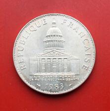 "France-Frankreich: 100 Francs 1983 Silber, ST-BU, KM# 951, #F 1105, ""Pantheon"""