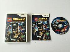 Lego Batman 2 DC Super Heroes Nintendo Wii Complete in Box CIB*