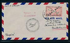 06448) KLM FF Amsterdam - Tripoli 4.11.58, Brf-DS ab Syrien, RR!!
